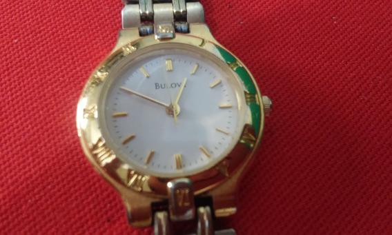 Relogio Bulova 97t44 Ouro Feminino Quartz Raridade Antigo