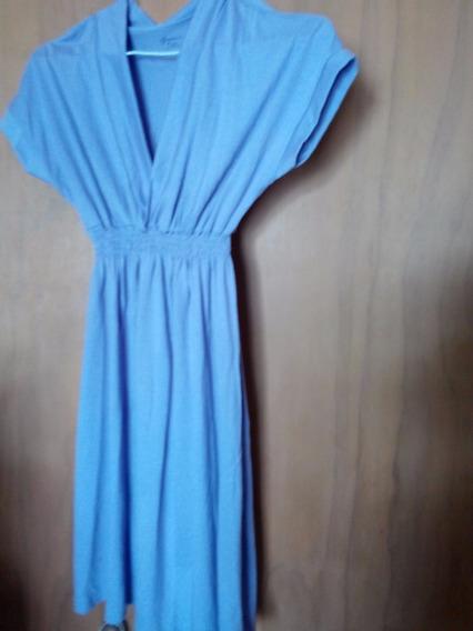 Vestido Algodon Lila Talle L