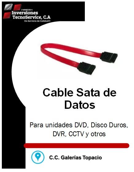 Cable Sata Datos Para Pc Dvr Dvd Disco Y Otros