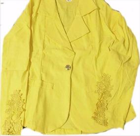 7598992ed5 Kit Blazer Com Renda Na Manga - Blazer para Feminino Amarelo no ...