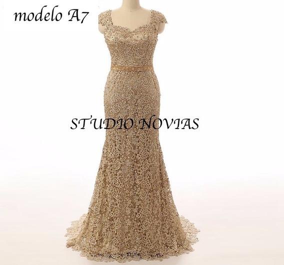 Vestido De Noche Graduación Xv Años Elegante Modelo A7