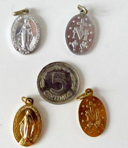 Original Medalla De La Virgen Milagrosa De Paris 2 Medallas