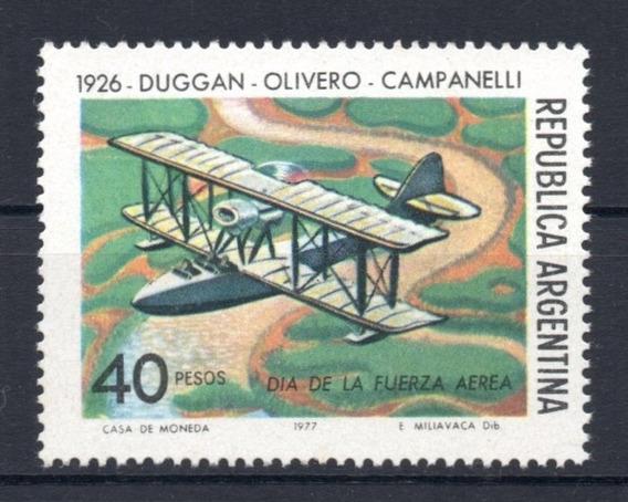 Argentina 1977 Gj 1802* Me 1105 Nueva Día De Fuerza Aérea A