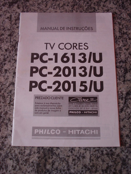 Manual De Instruções Tv A Cores Philco Hitachi Pc