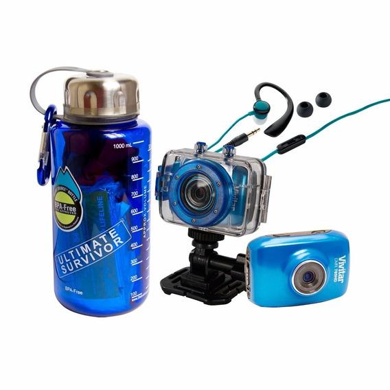 Câmera De Ação Hd E Kit De Sobrevivência