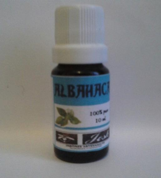 Aceite Esencial De Albahaca 10 Ml.