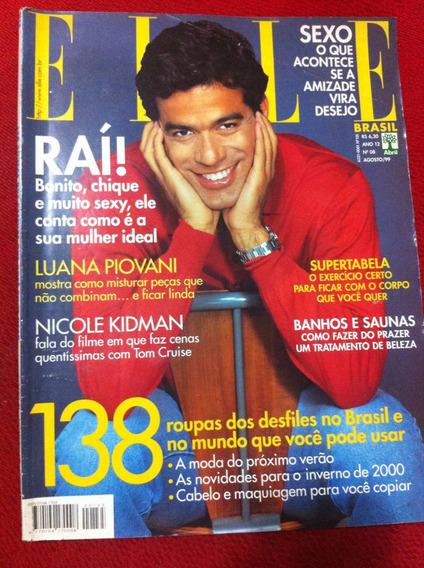 Revista Elle 99 Rai Jogador Gato Luana Piovani Nicole Kidman