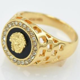 Anel De Alta Qualidade Cz Diamante Banhado A Ouro