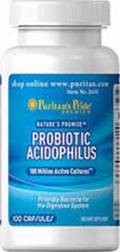 Probioticos Acidophilus 100 Capsulas Importado Usa