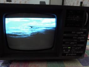 Mini Tv Deluxe Portátil 5`` + Rádio Com Cabo (fonte) Cod 697