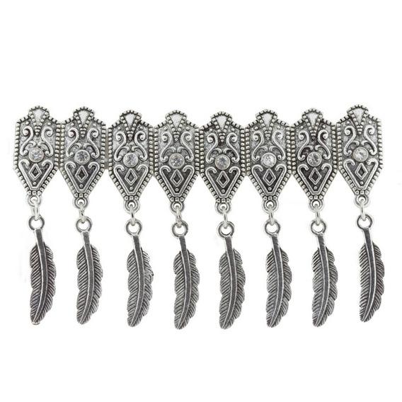 Bracelete Feather Strass