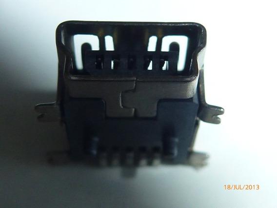 Lote 10 Conector Mini Usb 5 Pinos Sony LG Gps Pmp Frete Grat