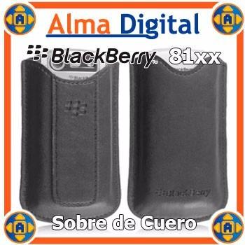 Funda Cuero Blackberry Pearl 8100 8110 8120 Sobre Protector