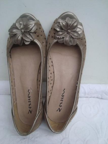 Sapato Peep Toe Em Camurça No 38