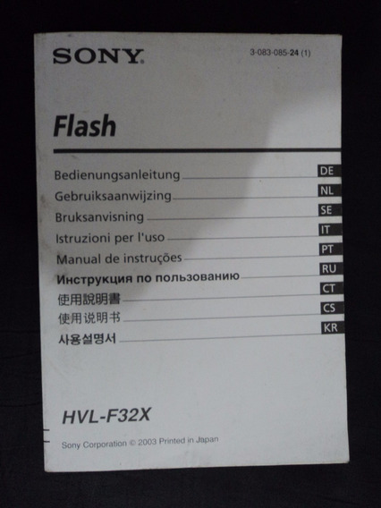 Manual Instruções De Operação Sony Hvl-f32x Em Portugues