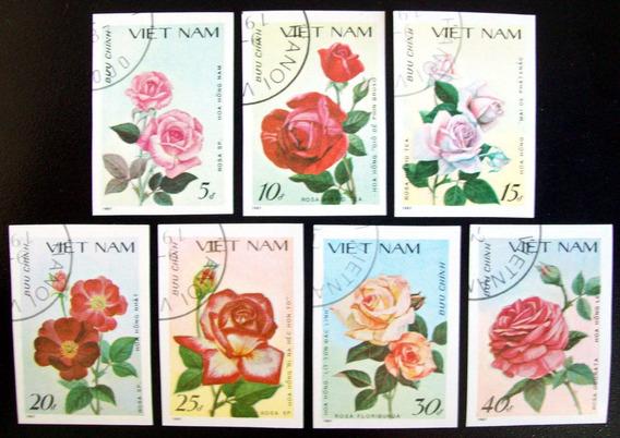 Vietnam, Flores Sc. 1823-29 S Dentar 87 Usada L6391