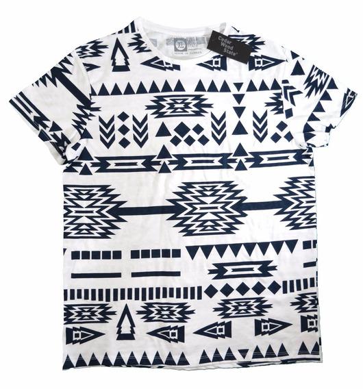 Camisa Cedarwood State Branca E Azul Tamanho Gg