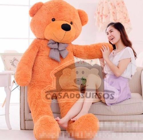 Imagem 1 de 6 de Urso Gigante Bege De Pelucia Teddy 1,8 Metros + Já Vai Cheio