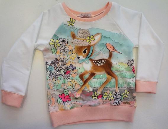 Moletom Bambi Mon Sucré - Creme