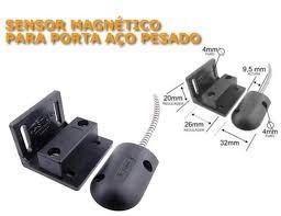05und Sensor Mini Magnetico Para Porta De Aço Preto - Stilus