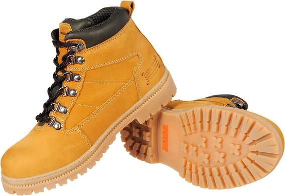 Bota Coturno Boot Amarela Mostarda 100% Couro Solado Latex