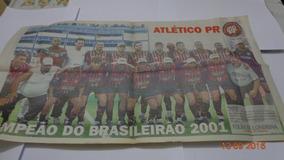 Poster Atletico Paranaense Campeão Brasileiro 2001