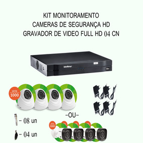 Kit Intelbras Hdcvi 04 Cameras 720p Hd Ir Dvr 04 Canais Etc