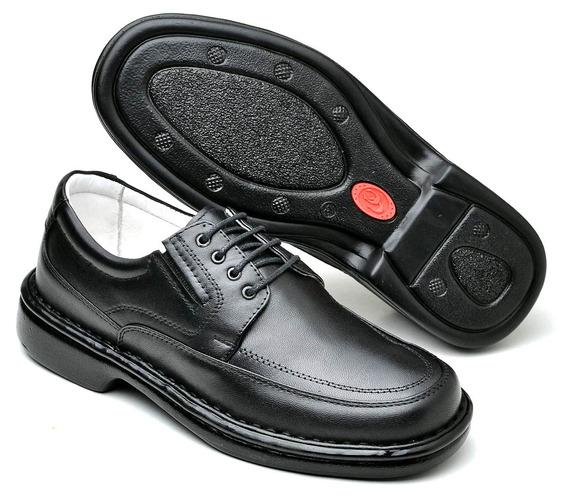 Sapato Social Masculino Confortável Couro De Cadarço Barato