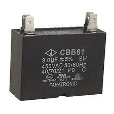 Capacitor Cbb61 3 Uf 450 Volts Novo