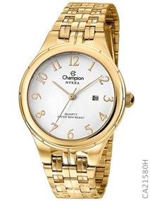 Relógio Champion Dourado Steel Ca21580h Original