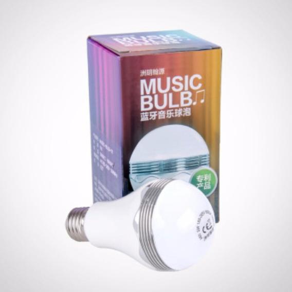 Caixa De Som Led Playbulb Bluetooth 2x1 Bivolt 350 Lúmens