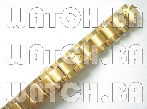 Pulseira Dourada Orient Fgsss002 - Nova, Original!