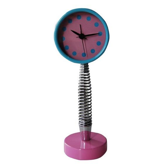 Reloj Espiral Azul Y Rosa