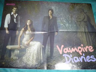 Poster The Vampire Diaries Revista Atrevida Semi Novo Top