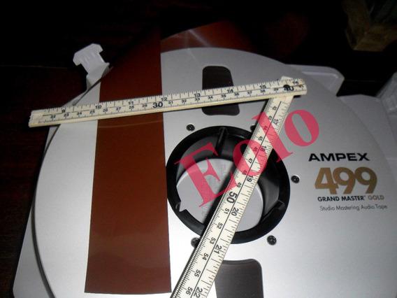 Fita Ampex 499 Usada, 2500 Pés 2 Pol. Prof.- Tascam