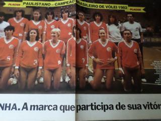 Poster Paulistano Campeão Brasileiro De Vôlei Feminino 1982