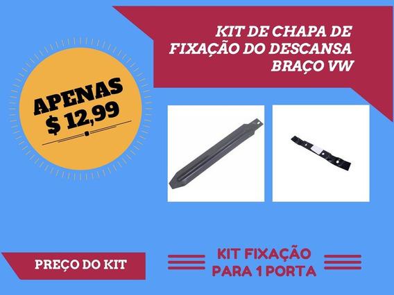 Kit Chapa Fixacao Descansa Braço Apoio Fusca Todos Puxador