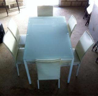 Comedor Para 6 Personas, Color Blanco