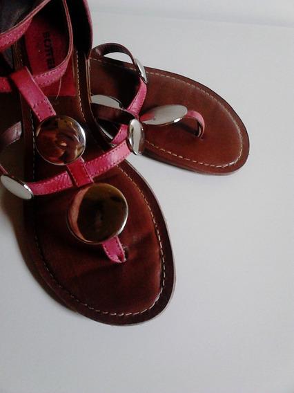 Sandalia Com Tiras Estilo Gladiadora Rosa Antigo Bottero 36