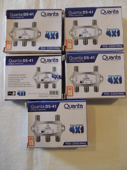 Chave Diseqc Quanta 4x1 950-2300mhz - Kit 5 Unid