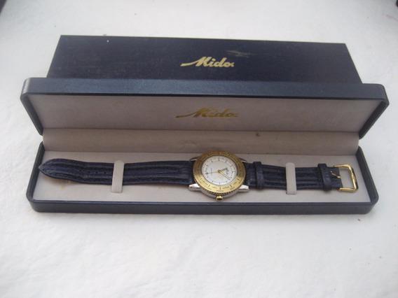 Relógio Mido Word Time 5200 Único Dono N Rolex
