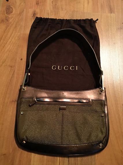 Bolsa Gucci Shoulder Bag Metallic Piel Fina 100% Original!!