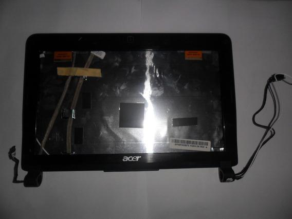Carcaça Tampa Da Tela+moldura Netbook Acer Aspire One Kav 10