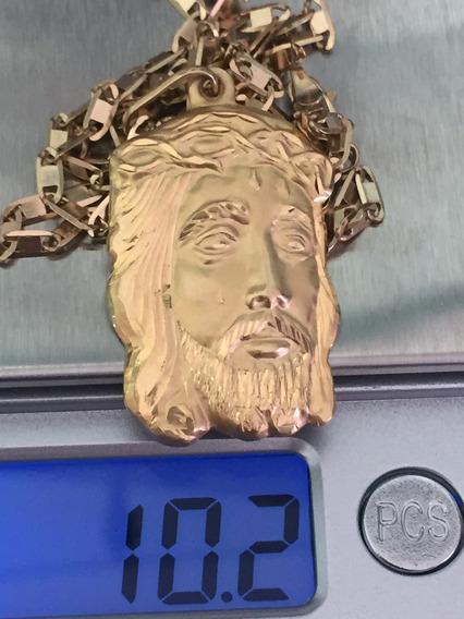 Colar Com Pingente Cristo-18k-750-10.5 Gramas,