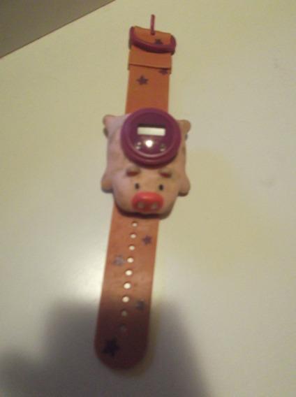 Relógio Infantil Porco Habib