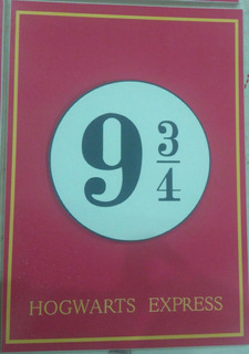 Placa Plataforma 9 3/4 - Hogwarts - Harry Potter - Plataform
