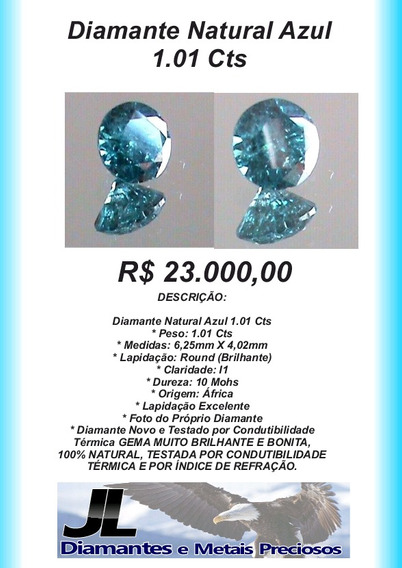 Diamante Natural Azul 1.01 Cts