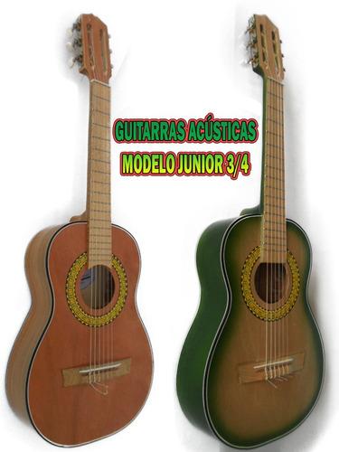 Guitarra Acústica En Madera Cedro, Modelo Junior 3/4