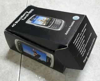 Caja Vacia De Blackberry Torch 9810 At&t + Instrucciones