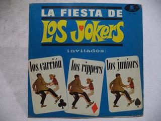 La Fiesta De Los Jokers Exitos Varios Lp Rock N Roll Mexico